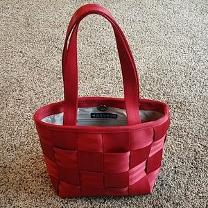 Harvey's Seatbelt Bag Purse Red Tote